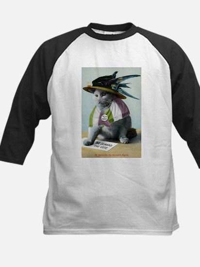 Suffragette Cat Kids Baseball Jersey