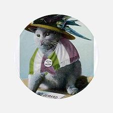 "Suffragette Cat 3.5"" Button"