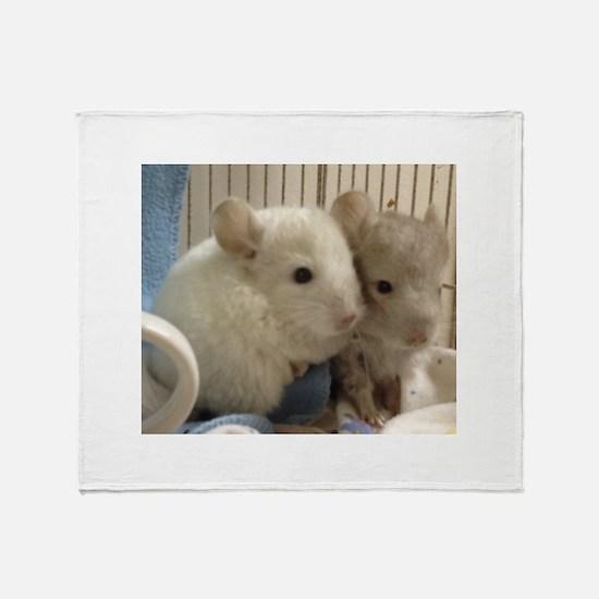 Cute Chinchilla Throw Blanket
