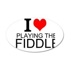 I Love Playing The Fiddle Wall Decal