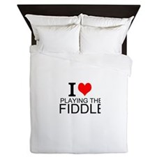 I Love Playing The Fiddle Queen Duvet