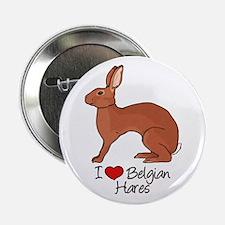 """Unique Belgian hare 2.25"""" Button"""