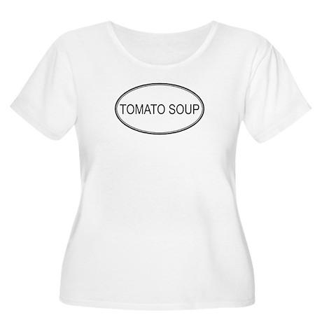 TOMATO SOUP (oval) Women's Plus Size Scoop Neck T-