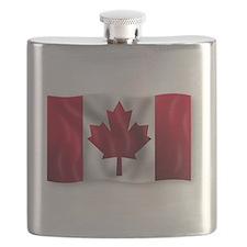 Unique Canadian curling Flask