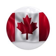 Funny Canadian curling Ornament (Round)