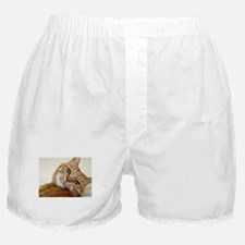 Funny Black and white cat Boxer Shorts