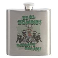Real Zombies Donate Organs Flask