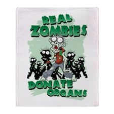 Real Zombies Donate Organs Throw Blanket