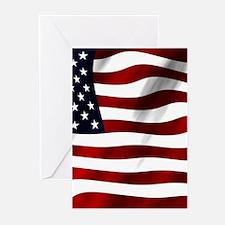 USA Flag Greeting Cards