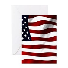 USA Flag Greeting Cards