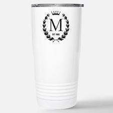 Custom Initial Logo Monogrammed Travel Mug