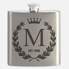 Custom Initial Logo Monogrammed Flask