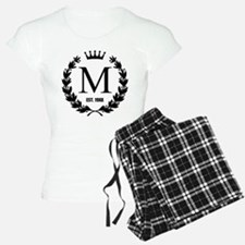 Custom Initial Logo Monogrammed Pajamas