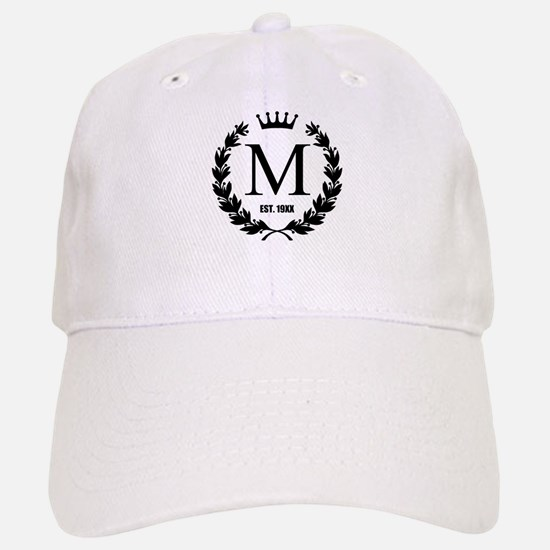 Custom Initial Logo Monogrammed Baseball Baseball Baseball Cap
