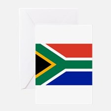 South Africa Flag Greeting Cards