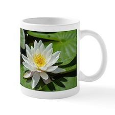 White Lotus Flower Mugs