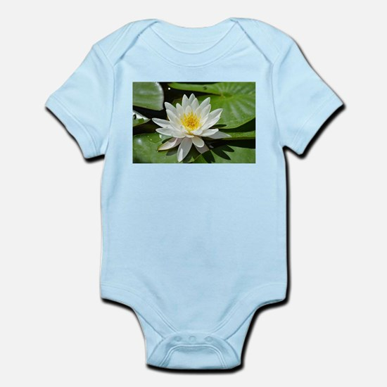 White Lotus Flower Body Suit