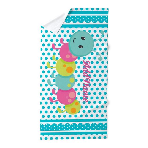 Polka Dots Bug Personalized Beach Towel By FamilyEmporium