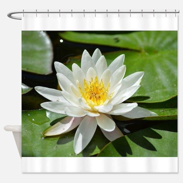 Cute Lotus massage Shower Curtain
