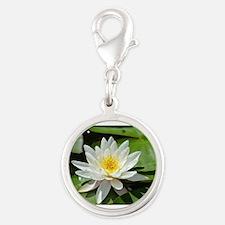 White Lotus Flower Charms