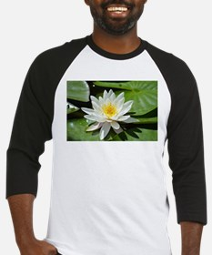 White Lotus Flower Baseball Jersey