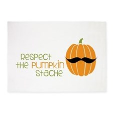 Pumpkin Stache 5'x7'Area Rug