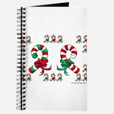Cute Christmas Candy Canes Journal