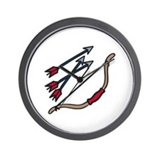 Bow Arrows Wall Clock
