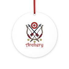 Bow Arrow Archery Ornament (Round)