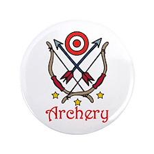 """Bow Arrow Archery 3.5"""" Button"""