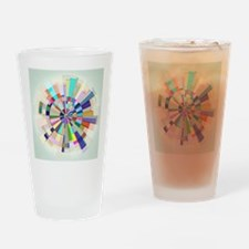 Abstract Color Wheel Drinking Glass