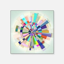 Abstract Color Wheel Sticker