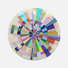Abstract Color Wheel Ornament (Round)