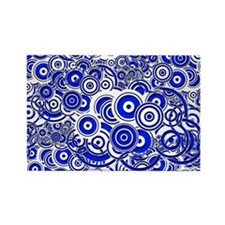 Blue Circle Art Magnets