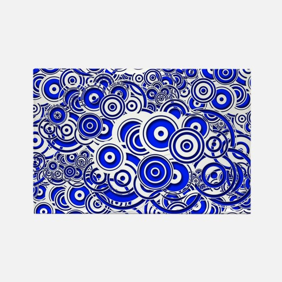 Blue Circle Art Magnets