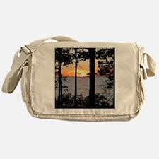 Lake Superior Sunset Messenger Bag