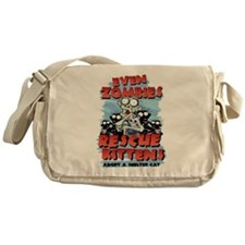 Even Zombies Rescue Kittens Messenger Bag