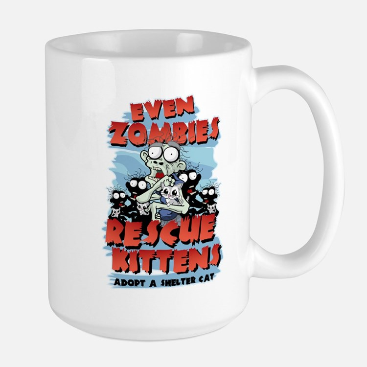 Even Zombies Rescue Kittens Large Mug