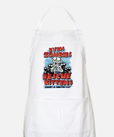 Even Zombies Rescue Kittens Apron