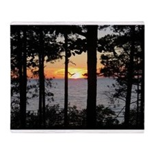Lake Superior Sunset Throw Blanket