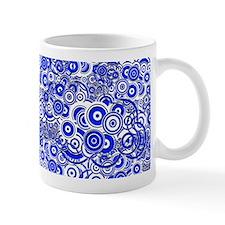 Blue Circle Art Mugs