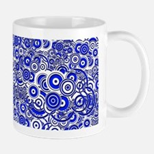Blue Circle Art Mugs