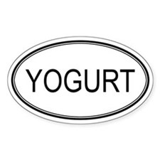 YOGURT (oval) Oval Decal
