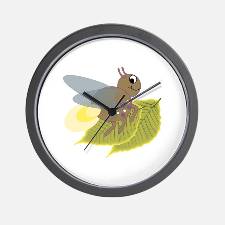 Lightning Bug Wall Clock