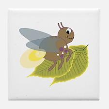 Lightning Bug Tile Coaster