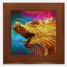 Cute Red dragon fire Framed Tile