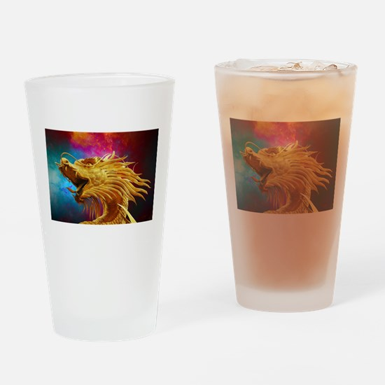 Cute Red dragon fire Drinking Glass