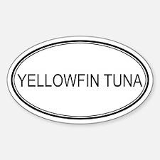 YELLOWFIN TUNA (oval) Oval Decal