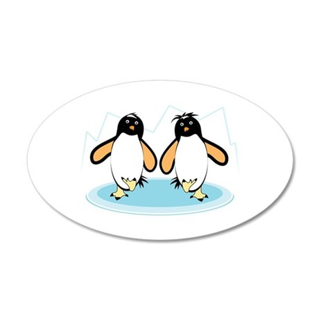 Penguins On Ice Wall Decal