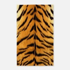 Tiger Fur Print 3'x5' Area Rug